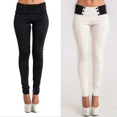 Fashion Women High Waist Skinny Long Trousers Leggings Slim Pencil Pants JJ