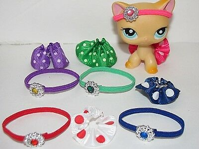💞Littlest Pet Shop Clothes LPS ACCESSORIES 6pc Random 3 skirts 3 headpieces