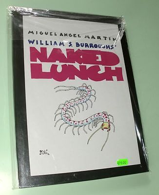 Fumetti Comics Miguel Angel Martin Naked Lunch Limited Edition 8/37 Signed New