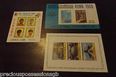 Panama Mnh Miniature Sheets Mint Group Of 3 Different Sheets