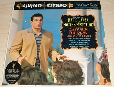 Mario Lanza In For The First Time Album 1959 Rca Victor Lsc-2338 Zsa Zsa Gabor