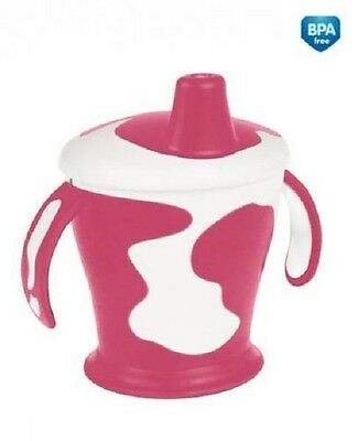 """New Canpol Baby Haberman """"Cow cup"""" Non-spill Beautiful Colorful Non-spill Beaker"""