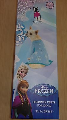 BNIB-Disney Frozen-Elsa Dress-Complete Kit- Puccie-Designer Knits for Dogs