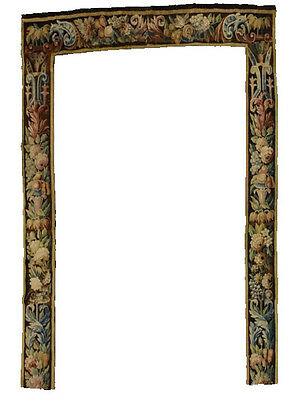 A Spectacular Antique Tapestry Border with Fruits & Flowers