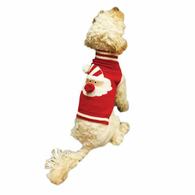 Christmas Dog Puppy Santa Claus Dress Up Costume Winter Jumper 4 Sizes