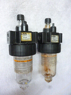 """TWO (2) Parker Hannifin Pneumatic Air Oiler Lubricator 06L21BE 3/8""""FNPT 150PSI"""