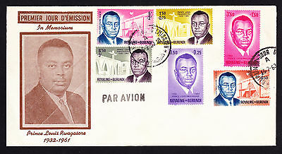 1963 Republic of Burundi Prince Louis Rwagasore Memorial Memorium cover
