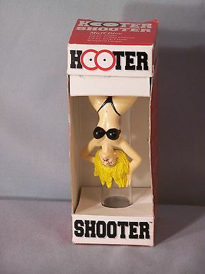 """HOOTER SHOOTER Shot Glass Collectible - approx. 4.75"""" Tall + 19 drink recipes"""