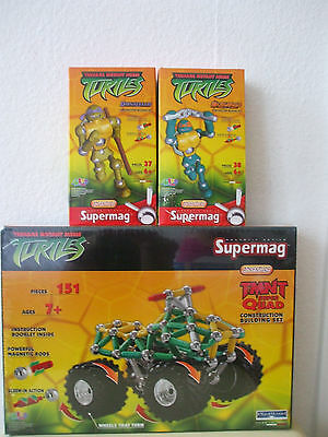 Supermag NINJA TURTLES TMNT QUAD, MICHAELANGELO, DONATELLO 226 Teile NEU & OVP