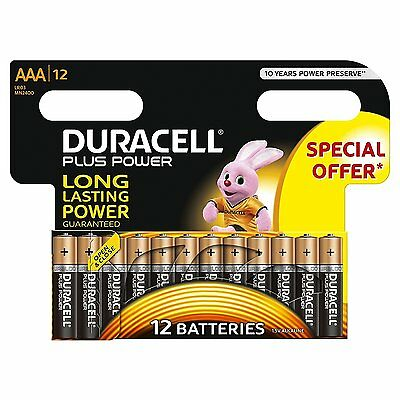 Duracell Triple A Batteries, Pack of 12 AAA  Alkaline Battries
