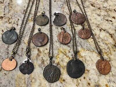 Ancient Roman Coin Necklace Pendant Jewelry   LARGE Roman Coin