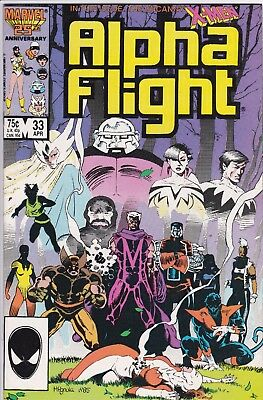 Alpha Flight #33 (Apr 1986, Marvel) 1st Lady Deathstrike! Key! High Grade!