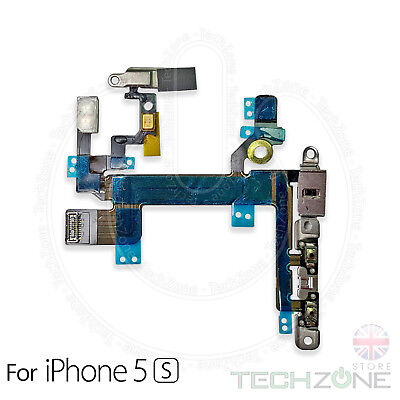 For iPhone 5S Volume Button Power Flex Mute Switch and Flash With Metal Brackets