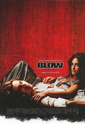 BLOW MOVIE POSTER 2 Sided ORIGINAL FINAL 27x40 JOHNNY DEPP PENELOPE CRUZ