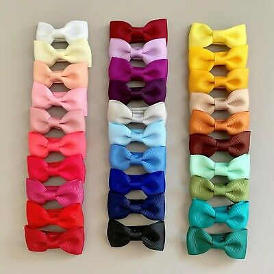 Grosgrain bow-  Fabric Enclosed hair clip for Girls with 30 colour choices
