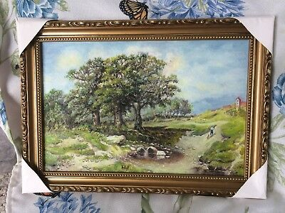 Framed oil painting canvas Landscape home decoration hand painted art