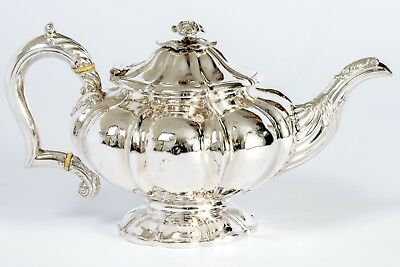 Solid Silver George IV Teapot 1832 by Joseph and John Angell (JA over IA) London