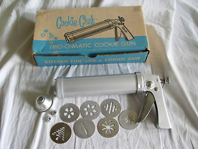 Vital Products COOKIE CHEF TRIG-O-MATIC COOKIE GUN in Original Box