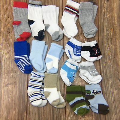 Socks Booties Baby Boy Newborn 3M 16 Pc Lot Set Sports Blue Brown Green