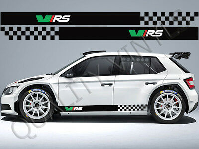 Skoda Vrs Octavia Fabia Racing Stripes Side Graphic Decal Stickers Rs212
