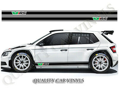 Vrs Fabia Octavia Racing Stripes Side Graphic Decal Stickers Rs211 Skoda