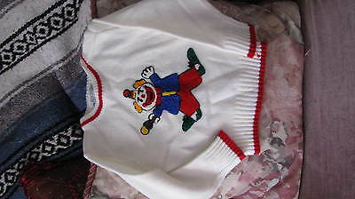 Vintage Babycrest Baby  Size 18 mo. Sweater * CLOWN*