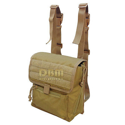 Tactical Large Binocular Pouch MOLLE PALS Webbing Padded Interior Coyote Tan