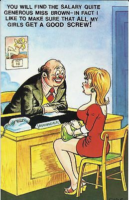 Vintage 1970's Bamforth COMIC Postcard (as new condition) Get a good Screw #488