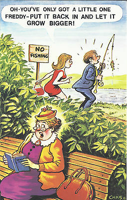 Vintage 1970's Bamforth COMIC Postcard (as new condition) Got a little one #463