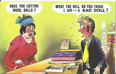Vintage 1970's Bamforth's COMIC Postcard (As new condition ) Cotton balls #345