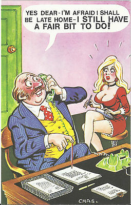 Vintage 1970's Bamforth COMIC Postcard (as new condition) a fair bit to do #432