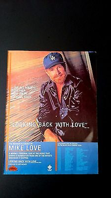 "Beach Boy Mike Love ""looking Back With Love"" Rare Original Print Promo Poster Ad"