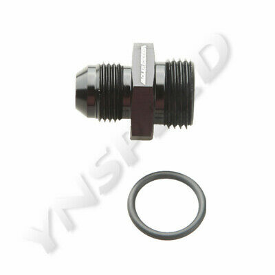 8AN AN-8 Male Flare To 10AN AN-10 Straight Cut O-Ring Adapter Fitting Black