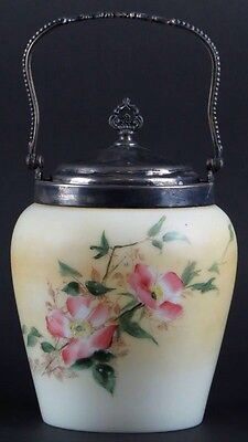 Vintage Wavecrest Apple Blossoms Biscuit Jar
