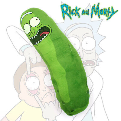 "18"" Rick and Morty Pickle Rick Stuffed Plush Dolls Toys Soft Pillow Cosplay Gift"