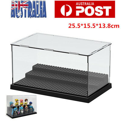 25cm Acrylic Display Plastic Box Case Clear Dustproof Protection Self Assembly