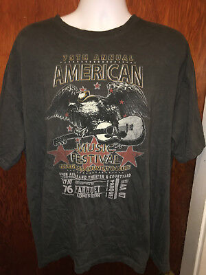 75th annual american music festival t shirt bluegrass country blues 2xl