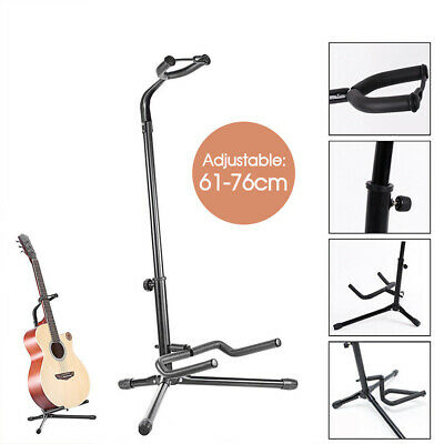 Guitar Folding Tripod Stand Acoustic Electric Gear Metal Holder Black New AU