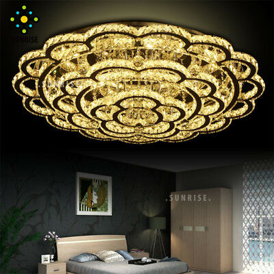 Fashion Luxurious PlumShape Crystal Ceiling Lights Chandelier Living Room