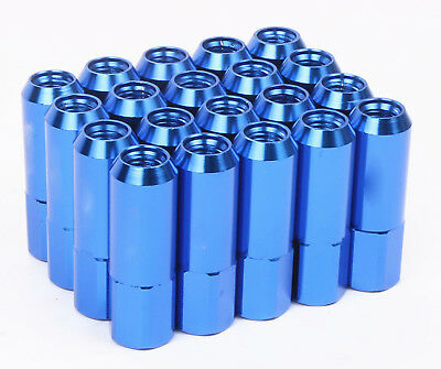 20 PCS Set Blue 60MM M12X1.5 Racing Tuner Wheel Lug Nuts For Toyota Honda Acura