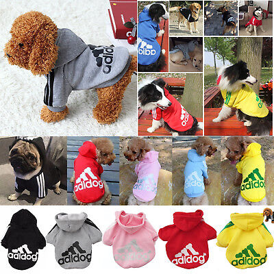 Large Dog Jacket Pet Winter Warm Hoodie Clothes For Coat Casual Adidog Dogs