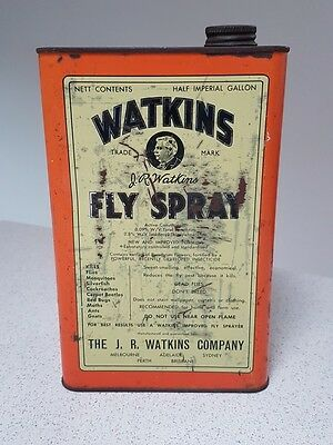 Watkins Fly Spray Half Imperial Gallon Tin