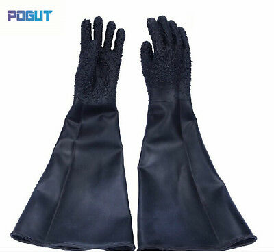 Professional sandblasting protective gloves 65cm industrial glove blast cabinet