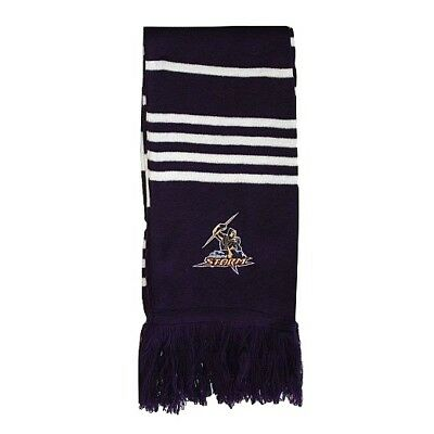 Nrl Melbourne Storm Premium Embroidered Scarf - Brand New