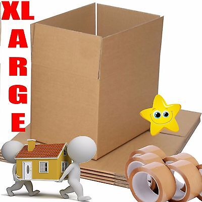 10x Extra Large (XXL) Cardboard Boxes - Strong Double Wall Removal Moving Boxes