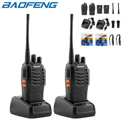 Lot 2 Baofeng BF-888S USB Walkie Talkie UHF 2800mAh Two-Way Ham Radio