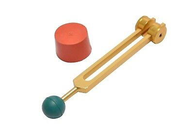 GOLD OM Weighted Tuning Fork+Activator+removable Color Rubber Ball for handle