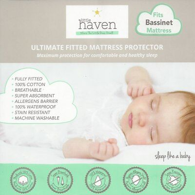 Little Haven - Bassinet Mattress Protector - 40 x 80 x 12 cm