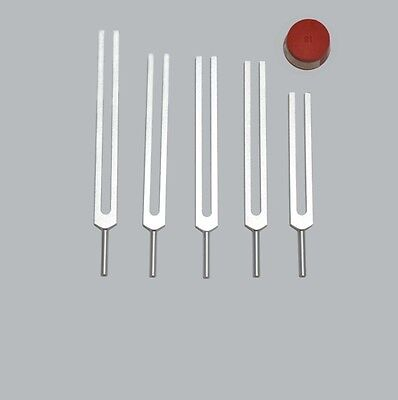 New 5 Pc set Brain Tuning forks for healing +Activator from Professional seller