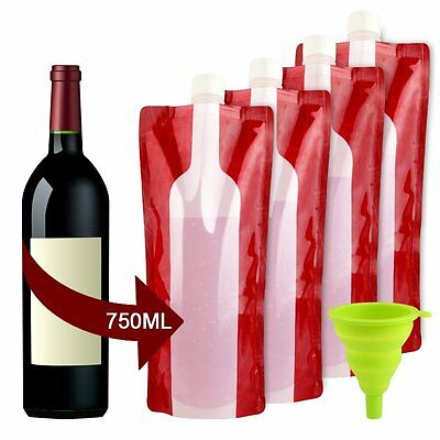 Wine Bottle Bag Flask Accmor, Portable Wine Accessories, or Travel Party BBQ